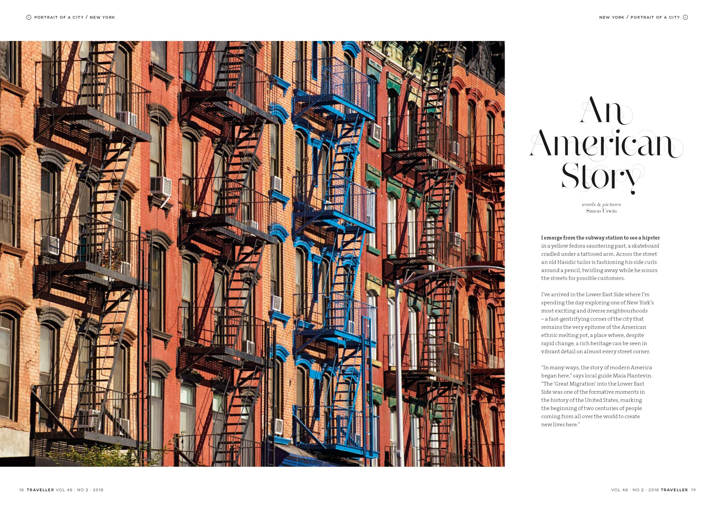 Published photography | New York City | Traveller Magazine