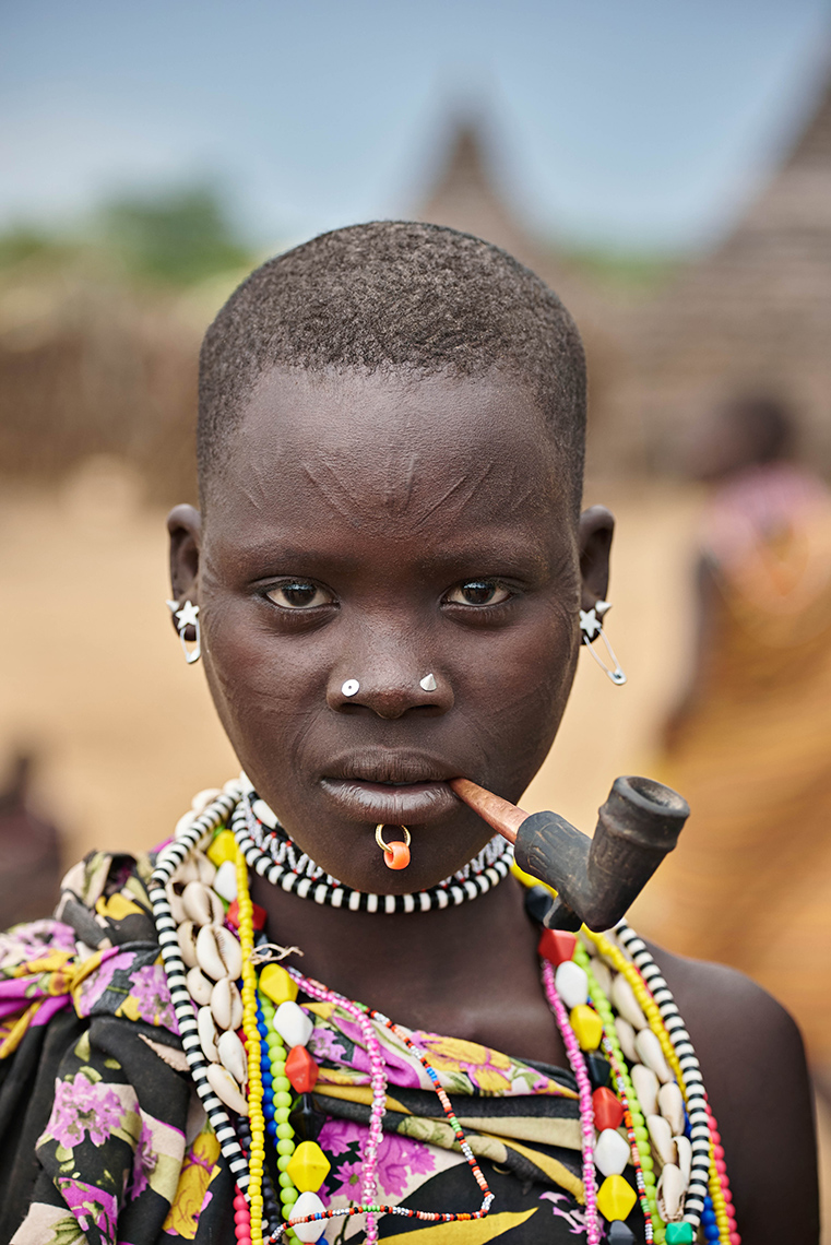 People | Toposa girl, Koten village, South Sudan