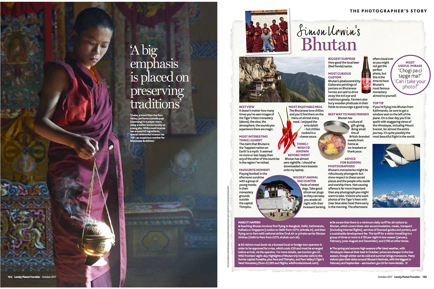 Bhutan | Incense | Lonely Planet Traveller Magazine | Simon Urwin | Published Articles & Photography