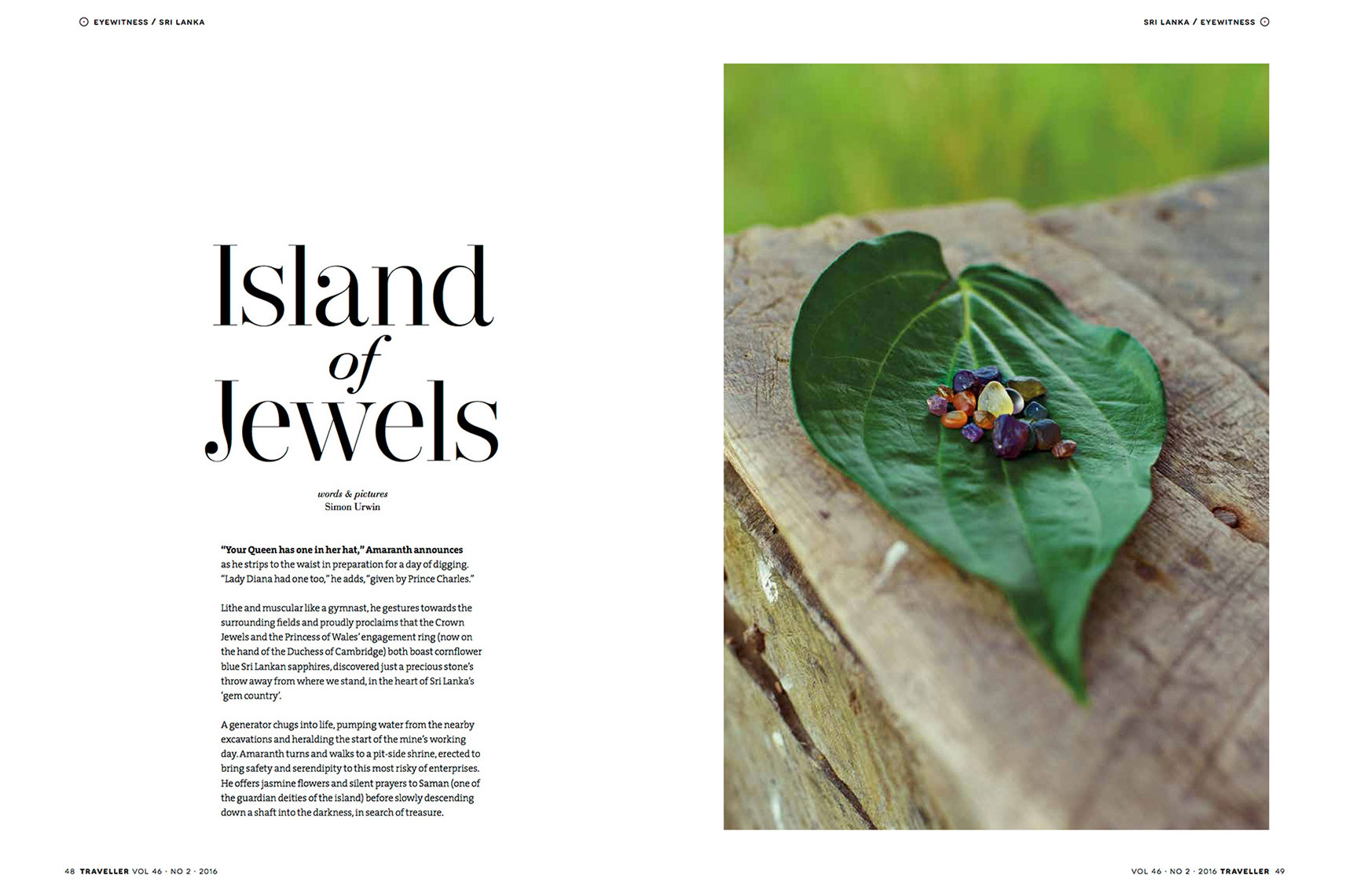 Published photography | Sri Lanka | Gems | Traveller Magazine