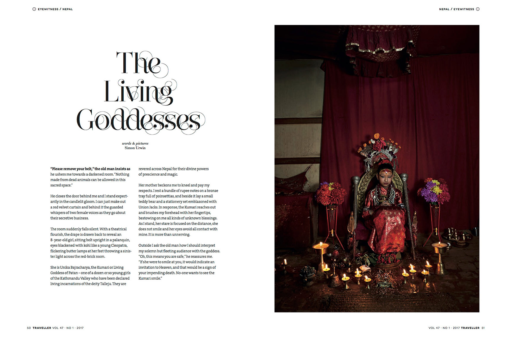 Nepal | Kumari | Living Goddess | Traveller Magazine | Simon Urwin | Published Articles & Photography