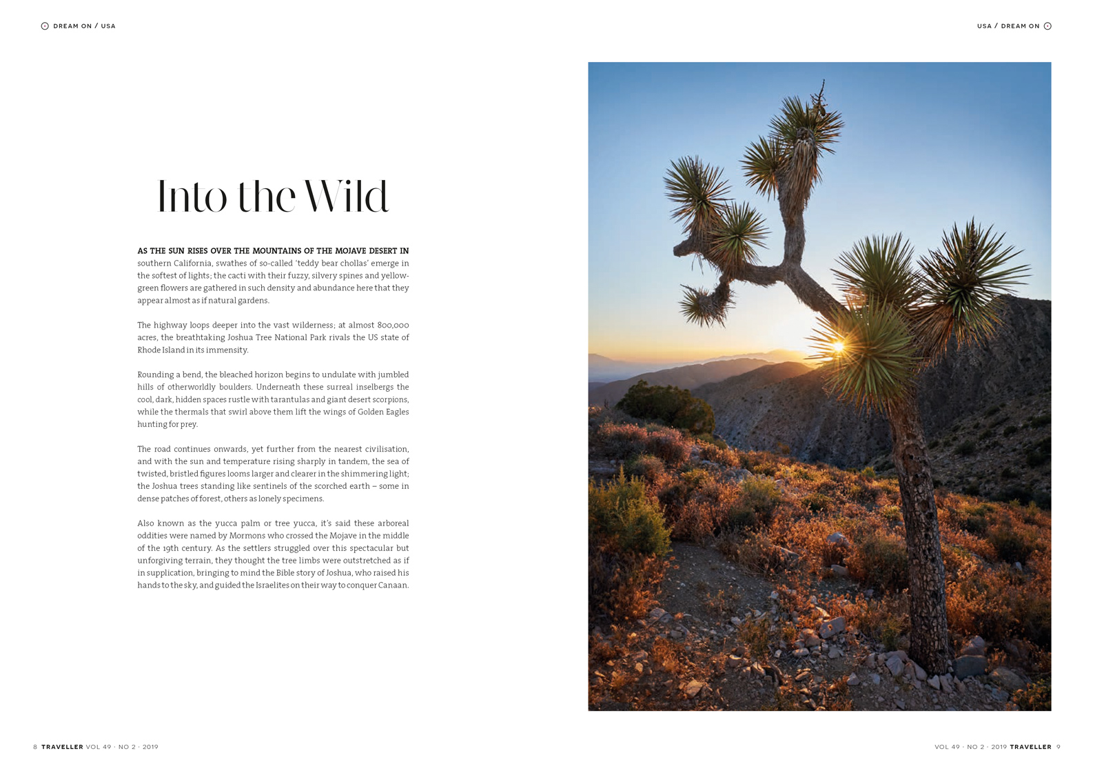 Published photography | America | California | Traveller Magazine